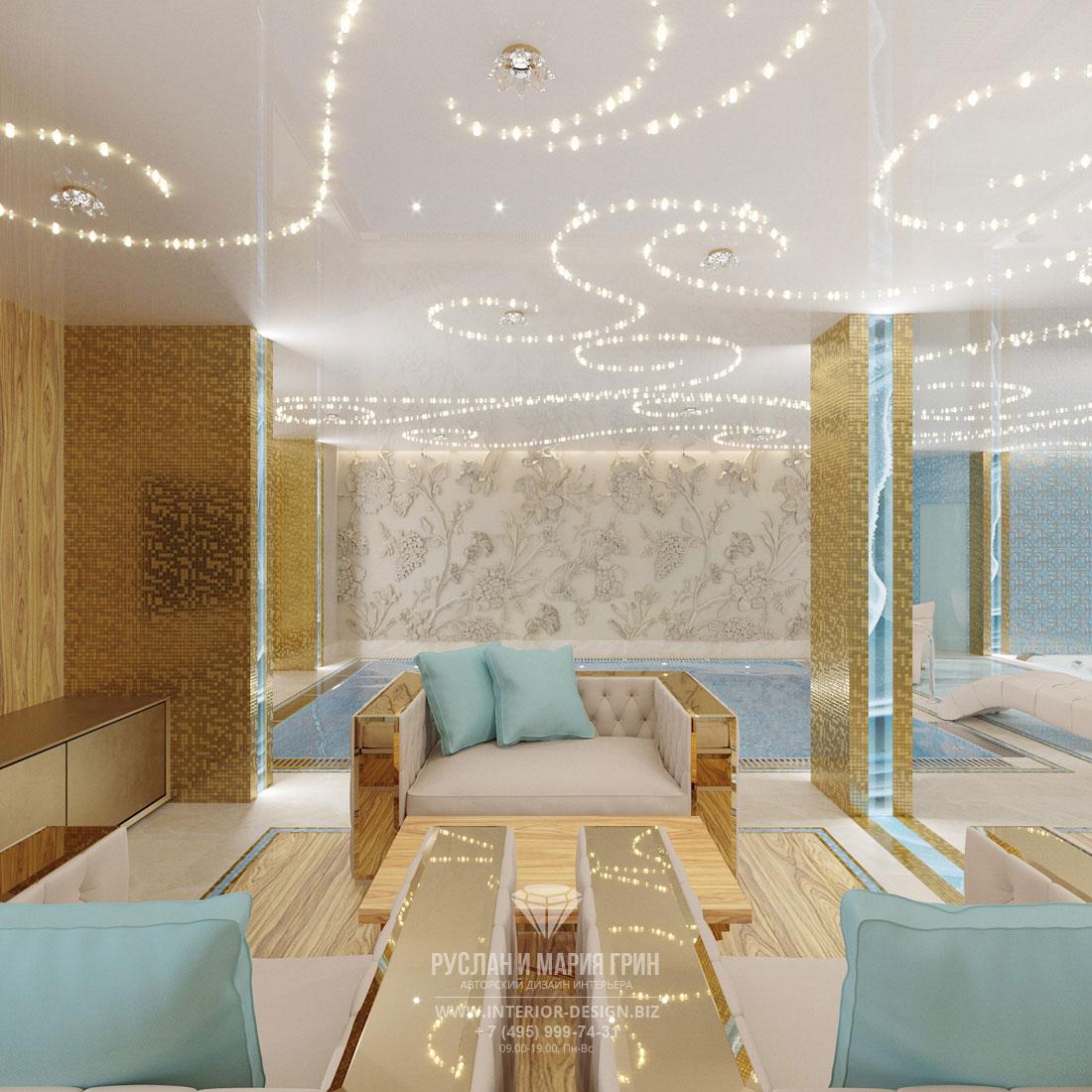 Дизайн бассейна в подмосковном особняке