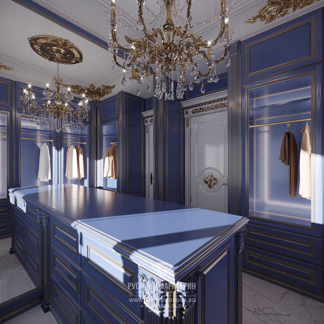 Дизайн интерьера гардеробной комнаты в доме
