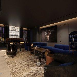 Дизайн гостиной в квартире холостяка