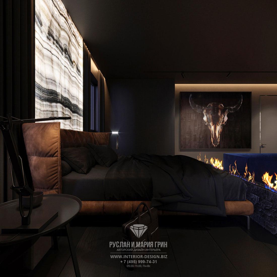 Дизайн современной спальни в квартире холостяка