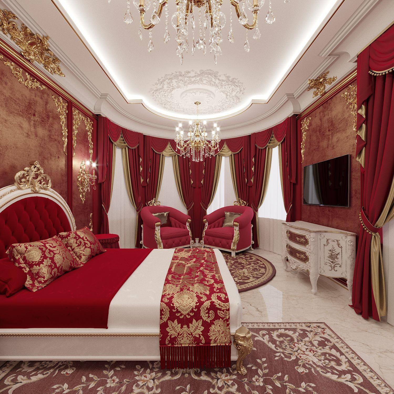 Дизайн интерьера спальни для девочки в загородном доме в классическом стиле