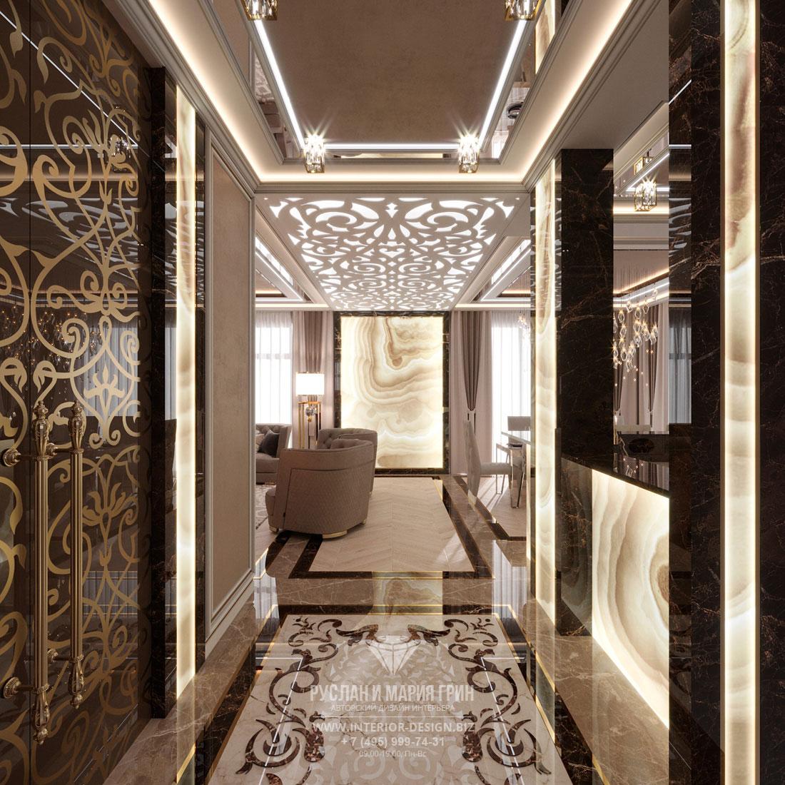 Ремонт частного дома – декоративная узорчатая отделка в интерьере
