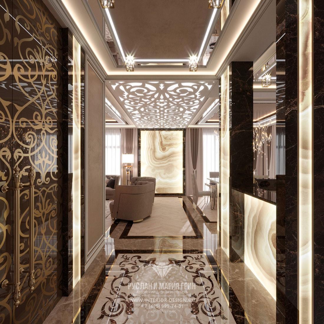 Дизайн таунхауса в стиле арт-деко с ажурными декоративными элементами