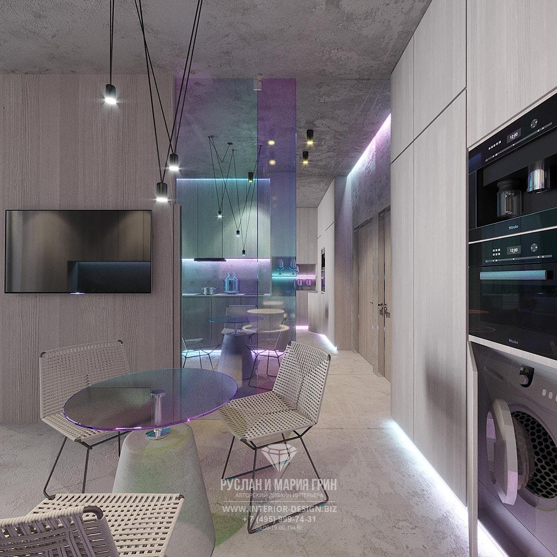 Дизайн интерьера кухни-столовой в маленькой квартире