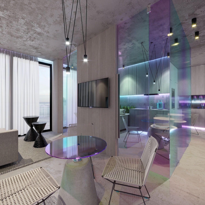 Дизайн интерьера маленькой квартиры в Монако