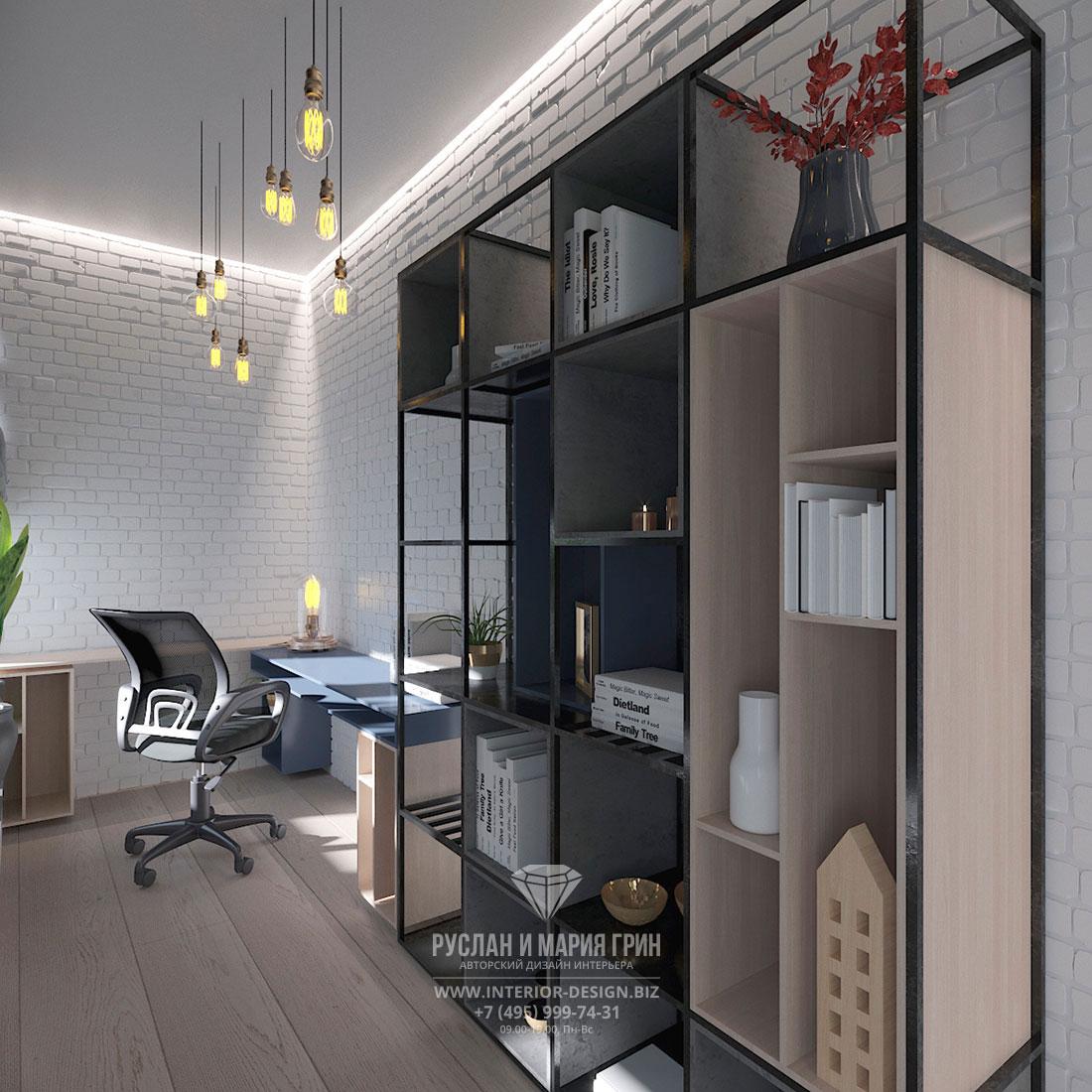 Дизайн балкона в стиле современный лофт с мини-кабинетом