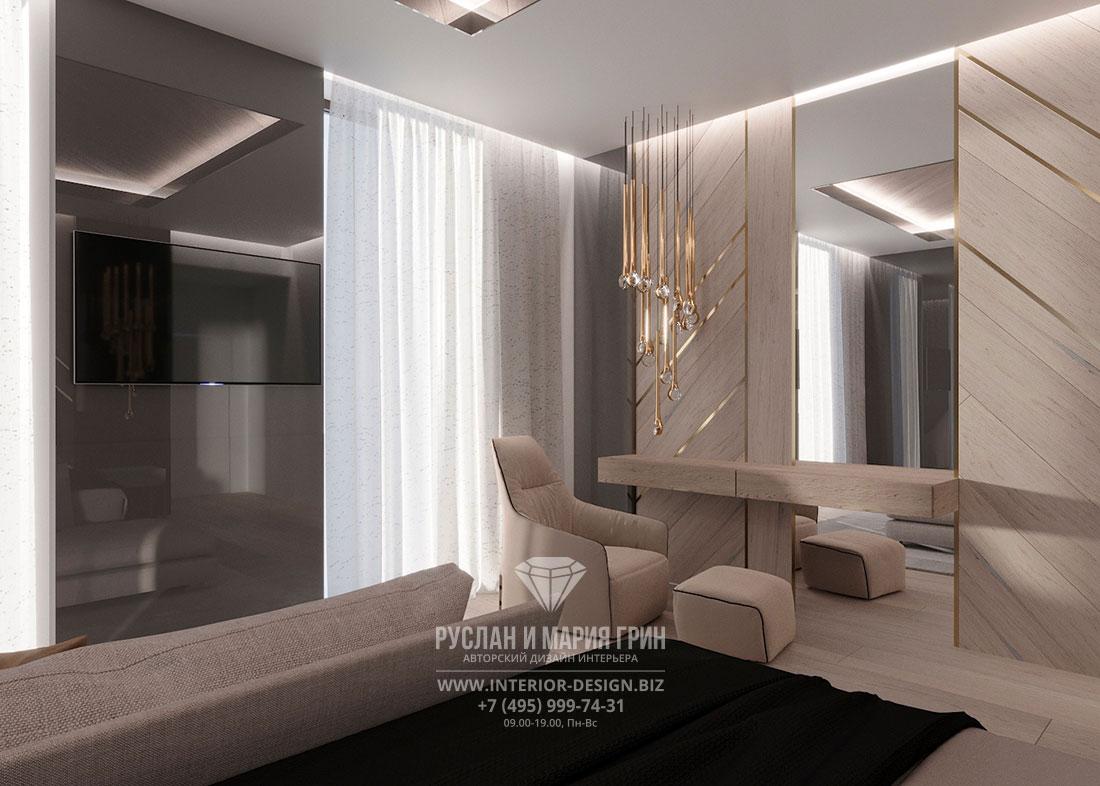 Дизайн спальни в современном стиле с элементами арт-деко