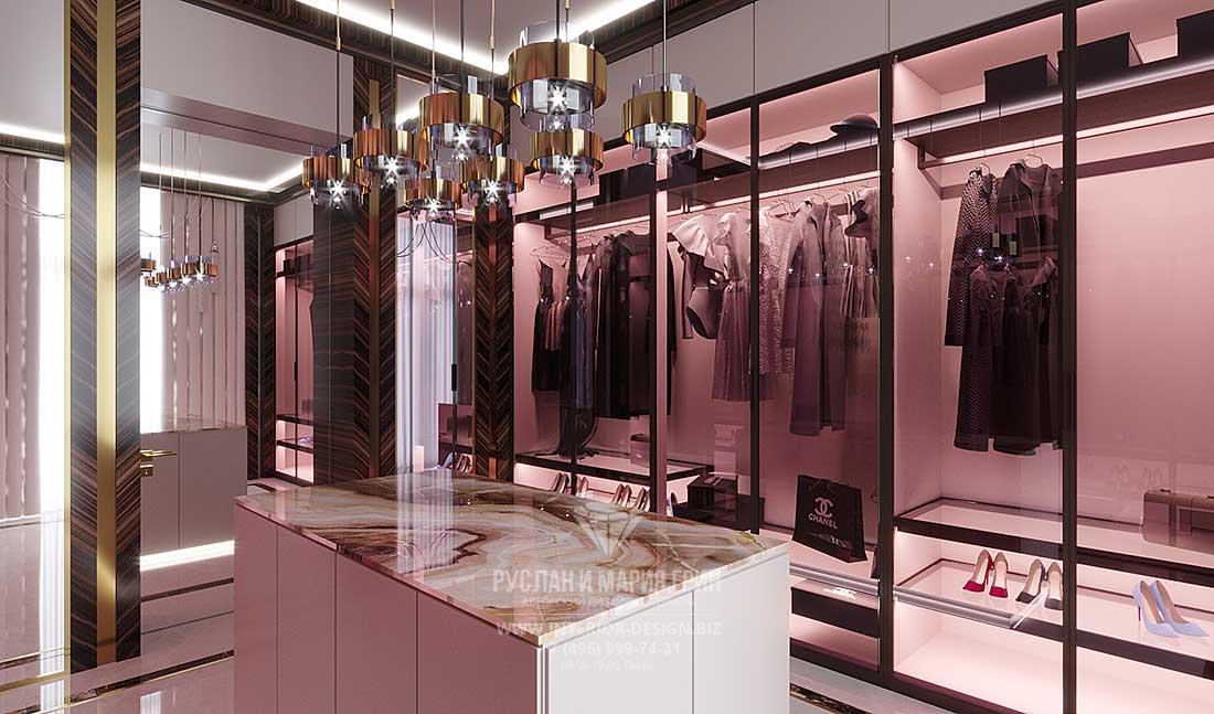 Дизайн гардеробной в стиле ар-деко