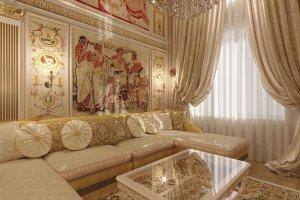 Дизайн элитной двухуровневой квартиры в Москве