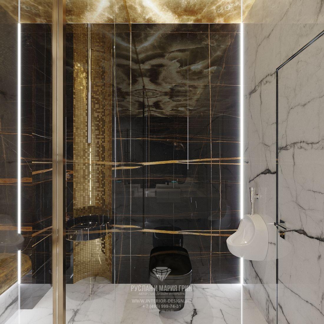 Мужская ванная в стиле ар-деко