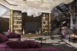 Дизайн элитной двухуровневой квартиры