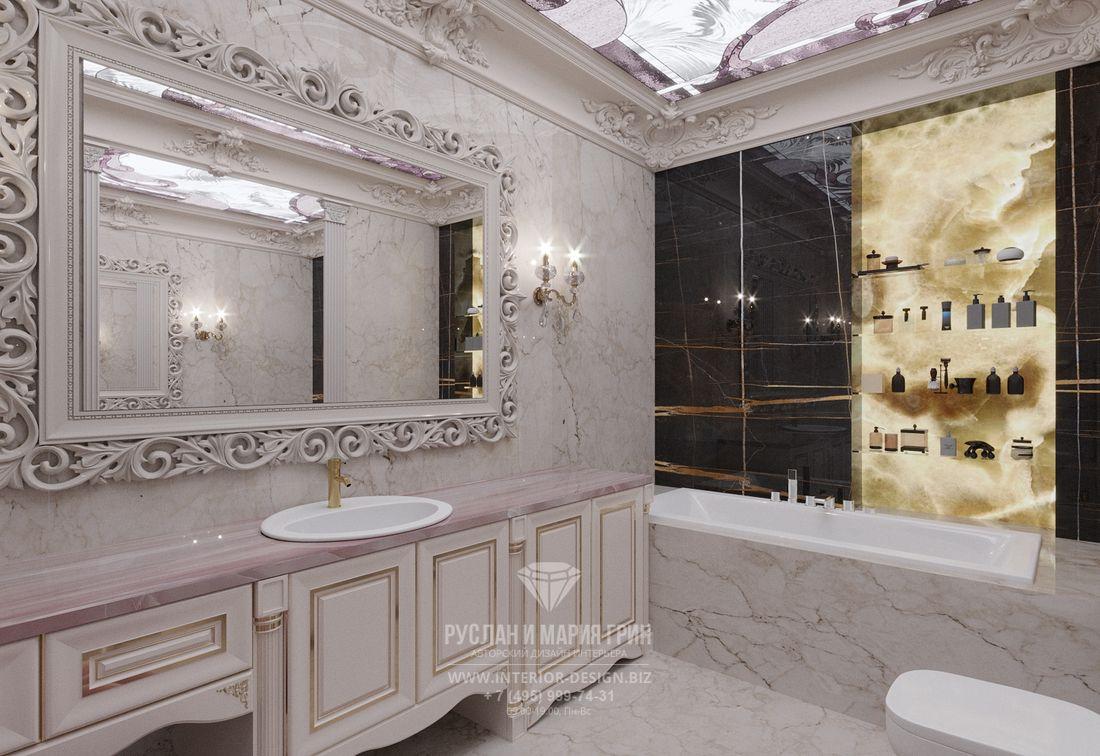 Дамская ванная комнаты в классическом стиле
