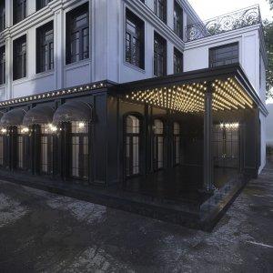 Дизайн фасада гостиницы в центре Москвы