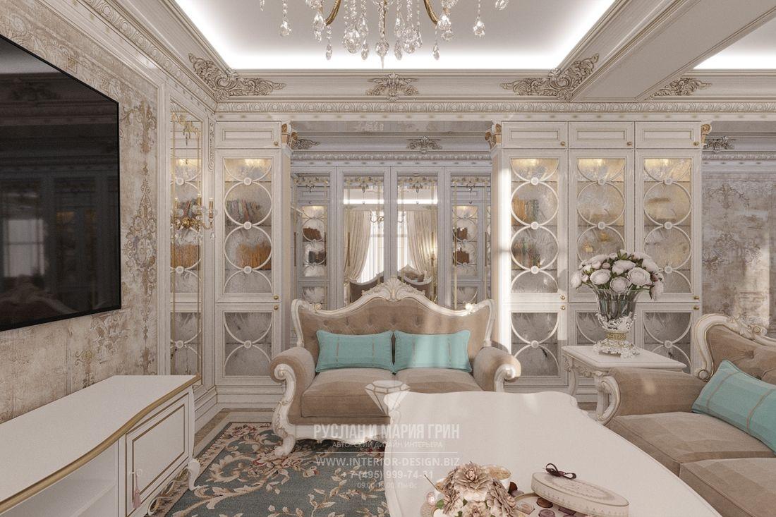 Дизайн 4-комнатной квартиры в классическом стиле