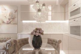 Дизайн 2-комнатной квартиры в светлых тонах