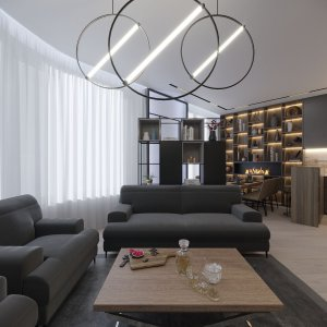 Дизайн квартиры в ЖК «Зиларт». Современный лофт