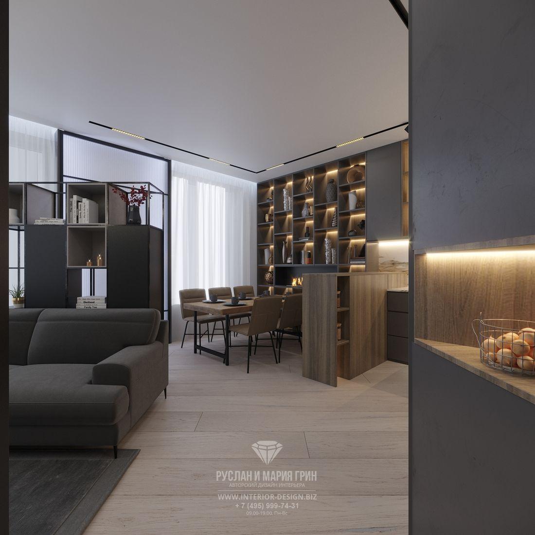 Дизайн квартиры в стиле современный лофт
