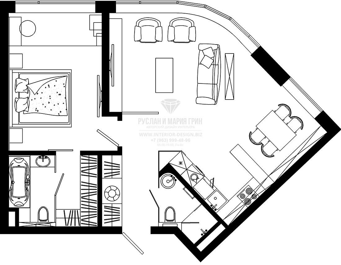 Планировочное решение квартиры в современном стиле